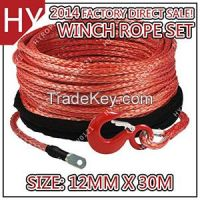 Red Color Warn Winches Rope with Thimble Hook