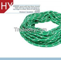 green with two three-strands white and one-strands red Fleck Color horses halters rope