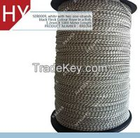 white with Two One-strands Black Fleck Color Braided Paragliding Lines Ropes for Hang Gliding Train