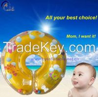 Hot Sale Plastic Safe Inflatable Infant Swimming Neck Circle Ring for