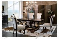 Round Wood Pedestal Dining Table With Four Chairs