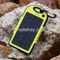 New products for 2015 solar power bank 5000mAh portable solar panel solar charger
