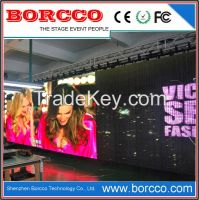 P9.375mm HD portable transparent led display for rental stage