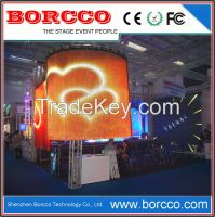 Creative soft rolling up led display
