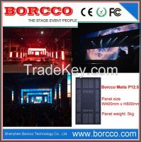 Indoor mesh rental led screen for stage backdrop night club dj events