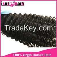 Popular 6A Brazilian Virgin Human Hair Extensions Kinky Curly Wave 1 2 3 lot Black Weave Beauty US