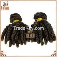 Black color 8 inch till 40 inch remi brazilian funmi hair extension