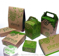 Delicate kraft paper boxes and bags with handle