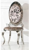 stainless steel flame plus coloured flannelette dinning chair