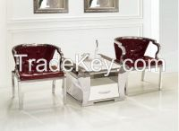 stainless steel plus PU leather leisure chair