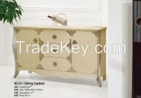 Stainless steel flame plus Marble surface and middle Fiberboard case Dining Cabinet