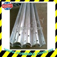 Hot Dip Galvanized Road Safety Metal W Beam Crash Barrier