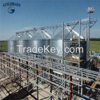 Hot galvanized grain steel silos for sale
