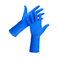 CHEAP POWDER-FREE NITRILE BLUE DISPOSABLE GLOVES GD19 (BOX OF 100)