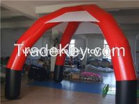 deft design inflatable spider dome tent in Red