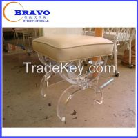 Extreme sweet home acrylic bedroom furniture leg bench