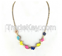 New design colorful epoxy necklace