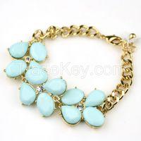 2015 hot design emerald drop acry  bracelet