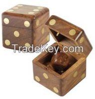 wood dice set