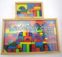 wood building block toy