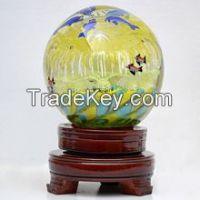 Luminous glass ball