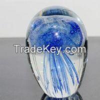Luminous jellyfish glass ball