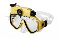 dining Swimming glasses camera 720P HD 30m waterproof double fill flash