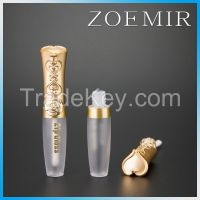 gold Crown pattern  makeup private label lipgloss packing tube for princess