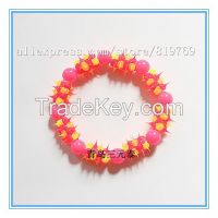 silicone spike beaded