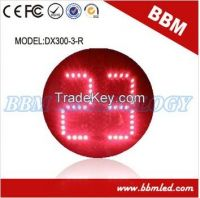 300mm red color countdown timer led traffic light