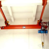 LX model Suspended mounted bridge crane with single/double speed electric hoist