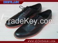 Vintage Bullock Carved Leather Men's Shoes