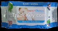 100 sheets baby wet wipes NEWBORN