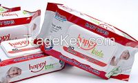 80 sheets baby wet wipes HAPPY KIDS new