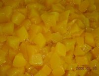 canned peach dices in syrup