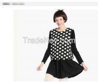 Fashion Polka Dot Dress woolen skirt