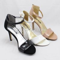 Sexy big yards Europe sandals black white shoes 38/42/43 code