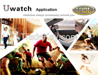 2015 Newest coming Capacitive Touch Screens U10L smart watch phone Compatible with IOS