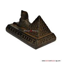 Handmade Egyptian Scribe Writer _ Sphinx _ King Tut _ Cat _ Pyramids