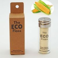PLA dental floss in glass bottle container