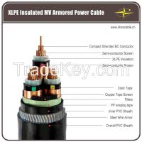 Copper Conductor XLPE Insulated Electric Power Cable - up to 35kV
