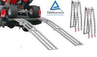 Serrated Cross Rung Folding Aluminium Loading Ramp