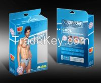 Customized Ivory board packing paper box with PVC window and CMYK print