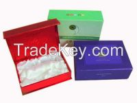 cosmetic gift packing box with silk inner and magnet close