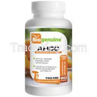 Biogenuine AHCC 750 mg 60 Vegetarian Capsules