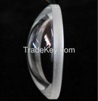 High transmittance optical glass lens for LED lights