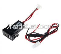 Car USB Charger Adapter Dual USB 2.1A DC12V with Fuse for Toyota Vigo