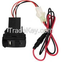 Car USB Charger Adapter Dual USB 2.1A DC12V with Fuse for Honda
