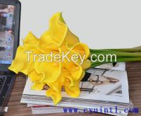 14 inch real touch PU artificial flowers calla lily bundles 9 pieces/bundle