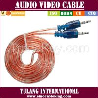 Transparent RCA cable mix colors hot-sale in 2015